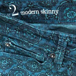 LOFT fine wale corduroy skinny jeans 2/30 inseam